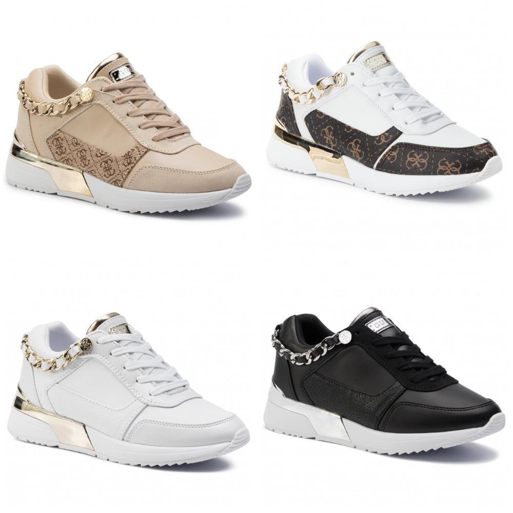 Guess Sneaker Mid FLBAX4 LEA12 Scarpe Donna Nere trapuntate