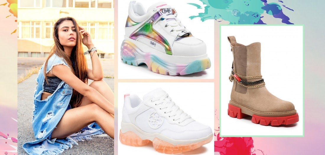 scarpe con suola colorata