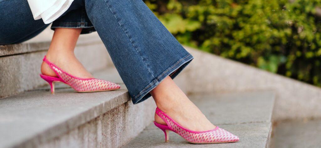 scarpe per pantaloni a zampa